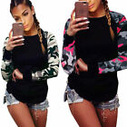 Fashion Camouflage Women\'s Long Sleeve Shirt Ladies Loose T-Shirt Tops Blouse