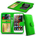 For Huawei Ascend Y530 - Clamp Style PU Leather Wallet Case Cover