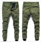 New Mens Casual Cargo Fashion Skinny Pants Casual Slim Trousers Pocket Size