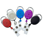 Bulk 25 Pack - Premium Carabiner Clip Retractable Badge Reel