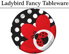 Ladybug Fancy Ladybird Tableware - Plates, Napkins, Cups & Tablecover