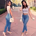 New Womens Skinny Denim Stretch Jeggings Slim Fit Trousers Jeans Pants FT