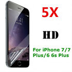 5pcs HD Clear Screen Protector Guard Protective Film for iphone 7 6s plus 6 plus