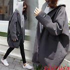 Korean Students Loose Woolen Blended Coat BF Street Style Thicken Overcoat Size