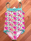 NWT Vineyard Vines Girls Puzzle Whale One Piece Swimsuit Pink $55 (22X)