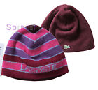 LACOSTE WOMAN REVERSIBLE BEANIE HAT PINK/ PURPLE RB5363 ONE SIZE