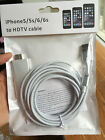 6ft 8Pin Lightning To HDMI TV Cable Adapter For i Pad 4 Mini Air Pro iPhone 5 6