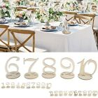 Внешний вид - 1-10/11-20 Wooden Table Numbers Set with Base Birthday Wedding Party Decor Gifts