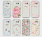 Pretty Floral Roses Flowers Vintage Retro Case Hard Cover Samsung S6/S7/A3/A5