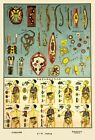 1930'S CHINESE MEDICAL CHART OF PARASITES & PATHOGENS A3 POSTER ART PRINT