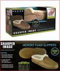 Sharper Image Memory Foam Slippers (MEN, WOMEN) - Tan - Sizes M-L-XL