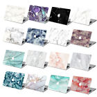 "Hard Rubberized Marble Painting Case For Macbook Pro Air 11 13""15""Retina 12 +Key"