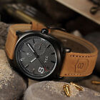 Hot Military Army Quartz Wrist Watch CURREN Mens Leather Strap Sport Fashion New image
