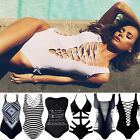 PLUS SIZE Women Sexy One Piece Swimsuit Push Up Bikini Swimwear Bathing Monokini