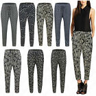 Women Printed Ladies Paisley Floral Butterfly Pockets Hareem Trousers Pants 8-16