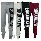 Womens Brooklyn Print Jogging Bottoms Ladies Tracksuit Pants Trousers Harem