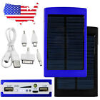 US Waterproof Solar Panel Power Bank External Battery Dual-USB Charger Camping