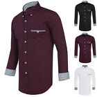 Fashion Luxury Men Slim Fit Shirts Long Sleeve Dress Shirt Casual T-Shirt Formal