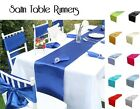 """12""""x106"""" SATIN TABLE RUNNERS For Weddings Party Table Decoration MANY COLOURS"""