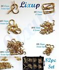 82 PACK MIXED BRASS DRESSER SCREW EYES CUP HOOKS Picture Hanging Small Large Set
