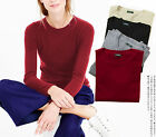 Women's Basic Crew Neck Knit Sweater Shirt Cashmere Blend One size fit S-M