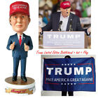 Trump Limited Edition Bobblehead+ 2016 Make America Great Again Hat + Trump Flag