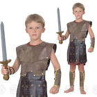 BOYS ROMAN WARRIOR FANCY DRESS COSTUME GREEK SOLDIER GLADIATOR KIDS CHILDS