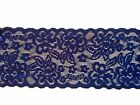 "NEW~ Quality Navy Blue  Soft Stretch Scalloped Lace 2.75""/ 7cm Lingerie Trim"