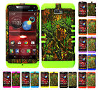 KoolKase Hybrid Cover Case for Motorola Droid Razr M XT907 - Camo Mossy 02