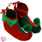 CHILD ELF BOOTS PIXIE SHOES CHRISTMAS FANCY DRESS COSTUME ACCESSORY GNOME XMAS