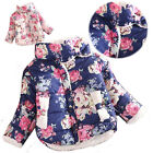 Cute Baby Toddler Girls Winter Fur Warm Cotton Coats Flower Jacket Parka Outwear