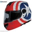 Torc Avenger T27B Modular Flip Up Dual Visor Helmet Rebel Star with Bluetooth