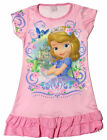 Disney Princess Sofia the First Enfant Filles Jupe Pyjama Robe Gown 3-10Y Rose