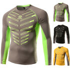 Men's Compression T-shirt Casual Cycling Sports Long Sleeve Fitness Tops Tee New