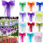 1PC Organza Chair Cover Sash Bow Wedding Party Reception Banquet Decor Wholesale