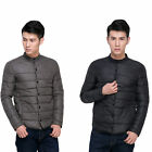 Men's Casual Solid Color Down Jacket Short Jacket Thick Coats Outwear Windproof