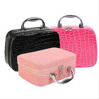 Fashion Makeup Storage Bag Jewelry Case Leather Travel Cosmetic Organizer Cases