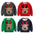 P3 Christmas Deer Long Sleeve Kids Sweatshirt Pullover Thickening Cotton Tops
