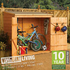 NEW WOODEN BIKE BICYCLE SHED LOCKABLE SECURE STORE