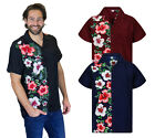 Funky Hawaiihemd Hawaii Shirt Herren Wedding Kurzarm Front-Tasche  XS-6XL