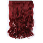 New One Piece Clip in Synthetic Hair Extensions Straight Wavy Curly Hair 5 Clips