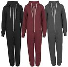 plus size onesies - New Womens Long Sleeve All In One Zip Front Pockets Onesie Jumpsuits  S-XL