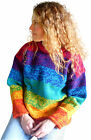 FAIR TRADE ETHNIC RAINBOW WOOL JUMPER HIPPY BOHO FESTIVAL 12 14 16 18 20 22