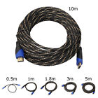 New Braided HDMI Cable V1.4 AV HD 3D for PS3 Xbox HDTV 1M - 10M Meters 1080P NG