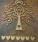 Wooden MDF Tree Shape, Wedding, Family Guestbook 4mm  (INCLUDES 40mm hearts)
