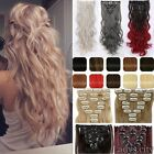 100% Natural Clip In Human Remy Hair Extensions 8Pcs Full Head 18clips total FHn