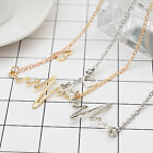 Fashion Womens Gold Silver Plated Heart Beat Pendant Necklace Stainless Chain