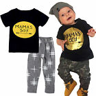 2PCS Toddler Kids Baby Girls Minnie Mouse Outfits Clothes T-shirt Tops+Pants