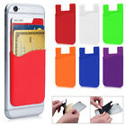Silicone Wallet Credit Card Cash Holder Sticker Adhesive Back Case For Phone