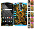 For LG G Stylo 2 Plus - Hybrid Impact Silicone Cover Case - Camo Mossy 11
